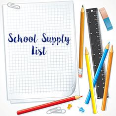 school  supplies text